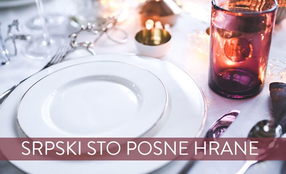 Srpski sto posne hrane
